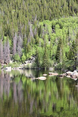 bear lake: Rocky Mountain National Park in Colorado, USA. Bear Lake. Stock Photo