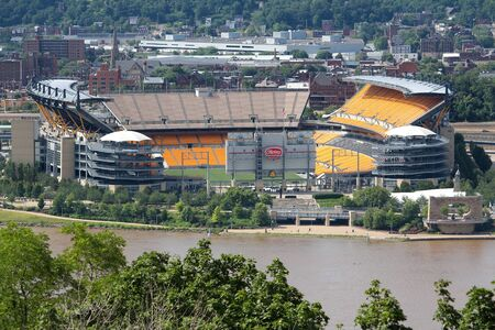pittsburgh: PITTSBURGH, USA - JUNE 29, 2013: Heinz Field view in Pittsburgh. It is primarily stadium of famous Pittsburgh Steelers football team.