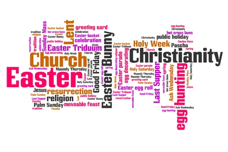 Easter celebration concepts word cloud illustration. Word collage concept. illustration