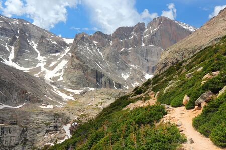 Rocky Mountain National Park in Colorado, USA. Tourist trail to famous Longs Peak. photo