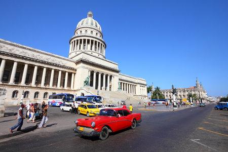 capita: HAVANA, CUBA - FEBRUARY 27, 2011: People drive in Havana, Cuba. Cuba has one of the lowest car-per-capita rates (38 per 1000 people in 2008).