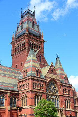 Cambridge, Massachusetts in the United States. Famous Harvard University - Memorial Hall.