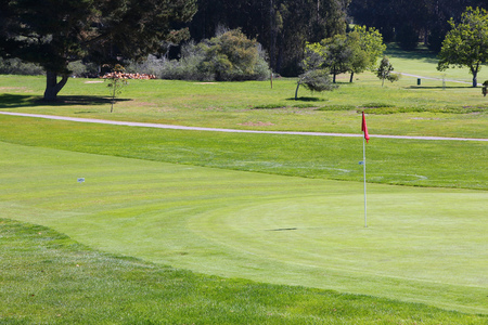 golf of california: California, United States - hole at a golf course Stock Photo