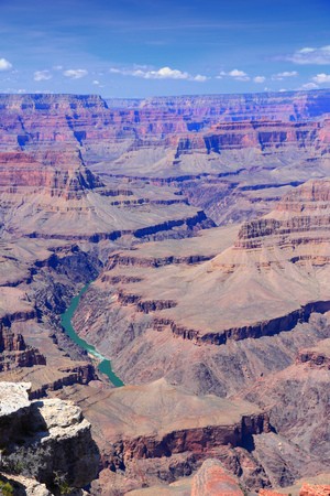 Grand Canyon National Park in Arizona, United States. Colorado River visible. Hopi Point view.