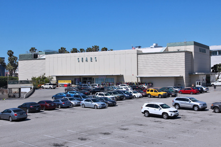 sears: SANTA MONICA, UNITED STATES - APRIL 6, 2014: People visit Sears store in Santa Monica, California. Sears was the 12th largest retailer in the United States (2013) by revenue.