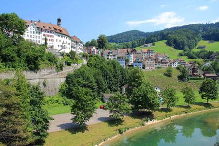 st  gallen: Lichtensteig - precioso casco antiguo en el cant�n de St. Gallen, Suiza