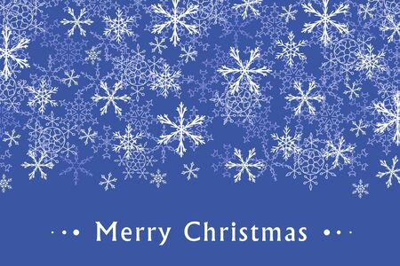copyspace: Christmas greeting card design with snow flakes. Sample text copyspace.