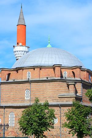 Sofia, Bulgaria - famous Banya Bashi Mosque. Ottoman architecture. Stock Photo