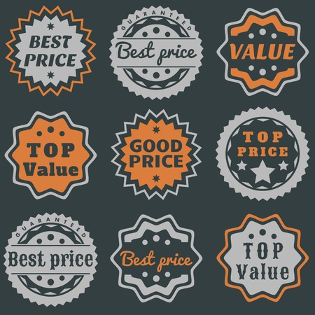 Best price guarantee stamps - value certificate marks. Deal stamp for your product. Vector