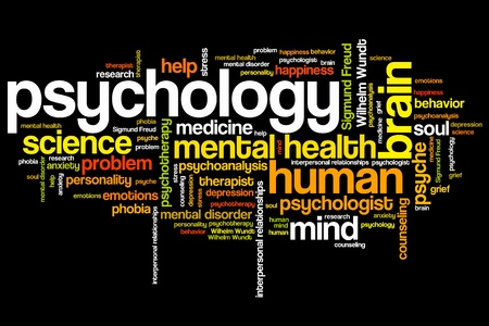 health problems: Psychology issues and concepts word cloud illustration. Word collage concept. Stock Photo