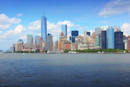 wtc: New York City, United States - Manhattan skyline with new WTC One.