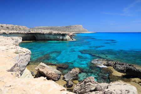 greco: Cyprus - Mediterranean Sea coast. Sea Caves near Ayia Napa.