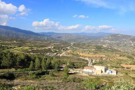 Cyprus - Limassol District. Mountain view of Cyprus countryside. photo