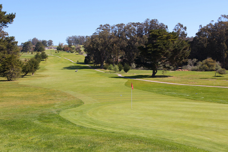 golf of california: California, United States - hole at a golf course Stock Photo