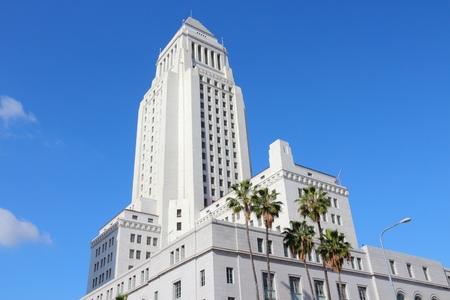 cityhall: Los Angeles, California, United States. City Hall building. Stock Photo