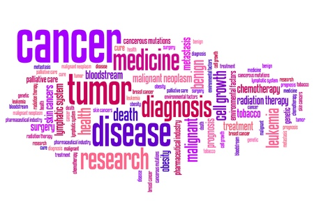 benign: Cancer illness concepts word cloud illustration. Word collage concept.