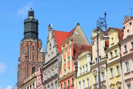 dolnoslaskie: Wroclaw, Poland - city architecture at Market Square (Rynek).