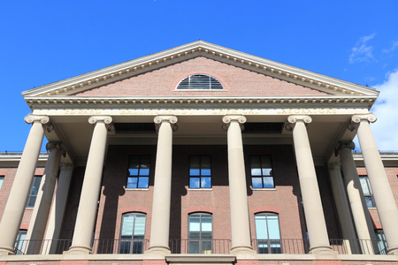 educational institution: Cambridge, Massachusetts in the United States. Famous Harvard University - Edward Mallinckrodt chemical laboratory. Editorial