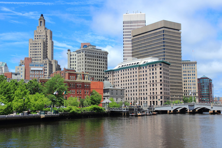 ri: Providence, Rhode Island. City skyline in New England region of the United States. Stock Photo