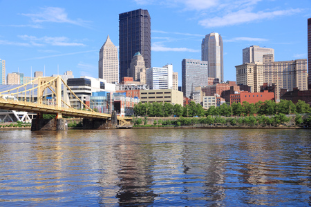 allegheny: Pittsburgh, Pennsylvania - city in the United States. Skyline with Allegheny River.