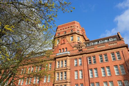 Manchester - city in North West England (UK). University of Manchester, Sackville Street Building. Stock Photo