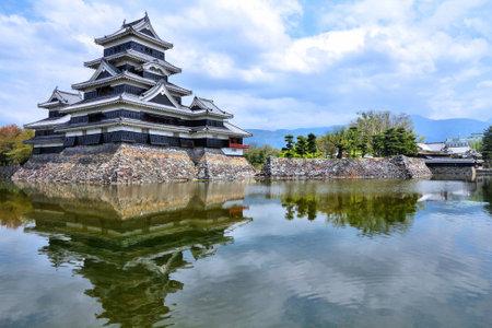 chubu: Matsumoto, Japan - town in Nagano prefeture of the region Chubu. Matsumoto Jo castle, designated as National Treasure of Japan.