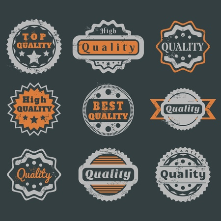 High quality guarantee stickers - value certificate marks. Quality stamp for your product. Vector