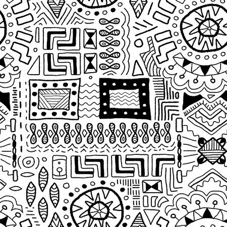 원주민 예술 배경 - 토착 아프리카 패턴 원활한 텍스처