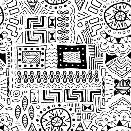 Aboriginal kunst achtergrond - inheemse Afrikaanse patronen naadloze textuur Stock Illustratie