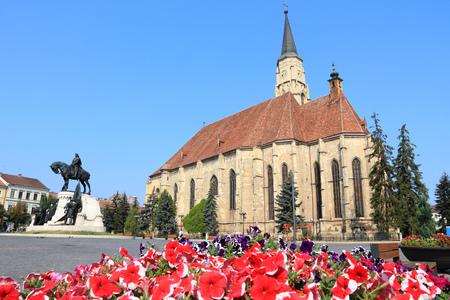 cluj: Cluj-Napoca, town in Transylvania region of Romania. Second biggest Romanian city. St. Michaels gothic church.