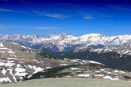 Rocky Mountain National Park in Colorado, USA. United States natural landscape. Gore Range with Mount Stratus, Mount Nimbus and Mount Cumulus. photo