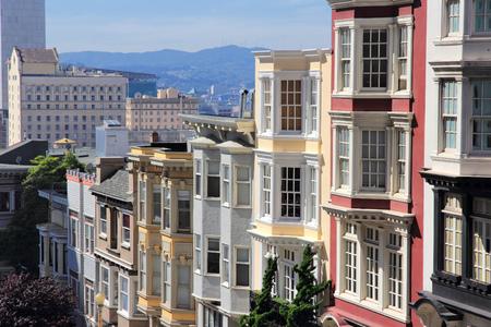 San Francisco, California, United States - beautiful old architecture in Nob Hill area. photo