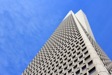 transamerica: SAN FRANCISCO, USA - APRIL 8, 2014: Transamerica Pyramid skyscraper in San Francisco, USA. It is the tallest building in San Francisco with height of 853 ft (260 m).