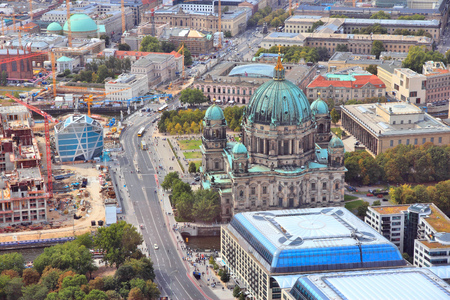 Berlin, Germany. Capital city architecture aerial view with Berliner Dom (Berlin Cathedral). photo