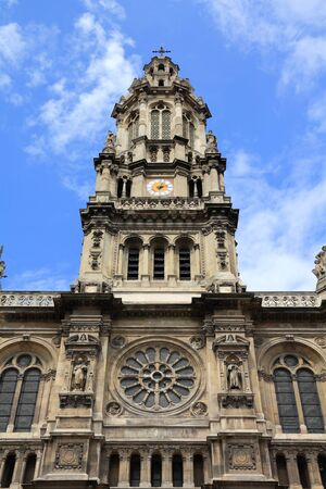 eclecticism: Paris, France - Saint Trinity Church in 9th arrondissement. UNESCO World Heritage Site. Stock Photo