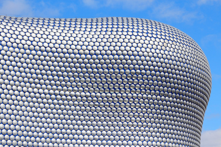 shopping centre: BIRMINGHAM, UK - APRIL 19, 2013: Selfridges department store in Birmingham. The modern building is part of Bullring Shopping Centre and was completed in 2003. Editorial