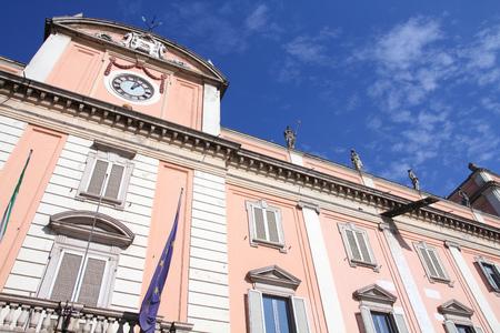 piacenza: Piacenza, Italy - Emilia-Romagna region. Neoclassical building - Palazzo del Governatore. Stock Photo