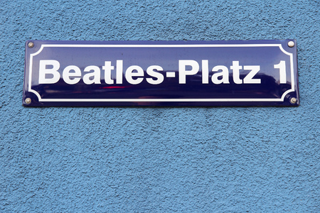 st pauli: Hamburg, Germany - Beatles Square (Beatles Platz) in St. Pauli district.