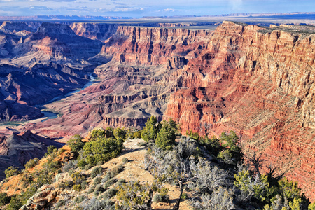 Grand Canyon National Park in Arizona, United States. Navajo Point view. HDR image. Stock Photo