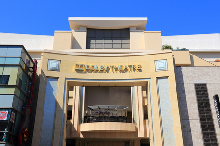 kodak: LOS ANGELES, USA - APRIL 5, 2014: Dolby Theatre in Hollywood. Formerly known as Kodak Theatre, it is the home of Academy Awards ceremonies.