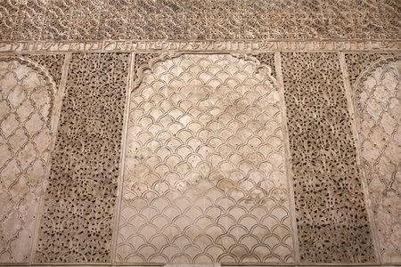 Cordoba, Spain. Intricate artwork of historic Synagogue. Jewish Quarter.