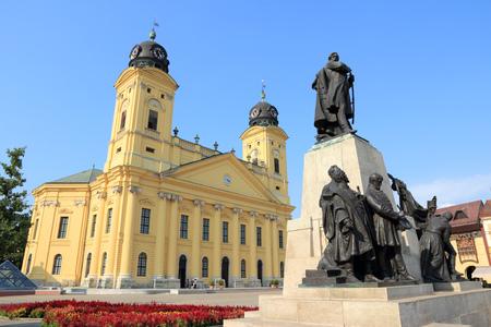 Debrecen, Hungary. Town in Hajdu-Bihar county. Great Reformed Church.