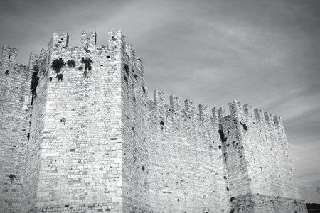 crenellated: Castle in Prato, Tuscany, Italy (Castello dellImperatore)