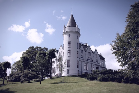 the royal county: Royal mansion Gamlehaugen in Bergen - famous town in Hordaland county, Norway