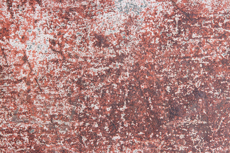 Grunge background - rusty old painted metal surface. Rough texture. photo