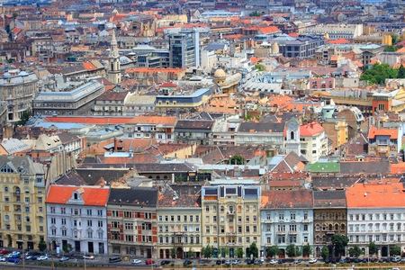 Budapest, Hungary - capital city aerial view. Old Town of Pest. photo