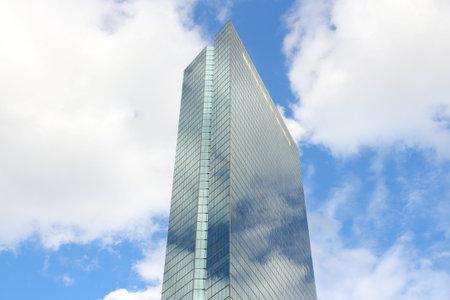 hancock building: BOSTON, USA - JUNE 8, 2013: Hancock Place skyscraper in Boston. It is the tallest building in Boston (790 ft tall, 241 m).