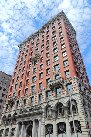 ri: PROVIDENCE, USA - JUNE 8, 2013: 60 Dorrance Street building in Providence, Rhode Island. The fine example of Beaux-Arts architecture dates back to 1901.