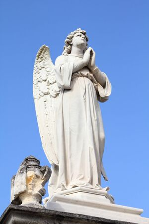 angel cemetery: Cuba - angel statue in the cemetery of Cienfuegos. Stock Photo