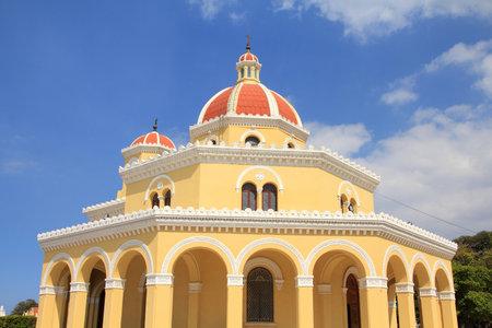 necropolis: Cuba - the main cemetery of Havana. Chapel at Necropolis Cristobal Colon. Editorial